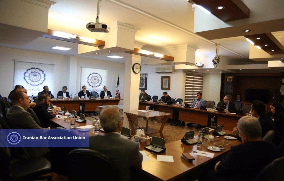 نشست مشترک هیأت رئیسه اتحادیه سراسری کانون های وکلای دادگستری ایران با گروه مشاوران رئیس اتحادیه