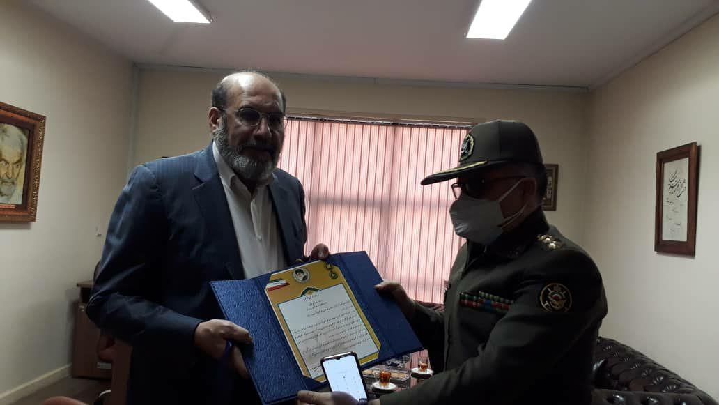 دیدار رئیس اداره قوانین، امور حقوقی و پارلمانی ارتش با رئیس اتحادیه سراسری کانونهای وکلای دادگستری ایران (اسکودا)