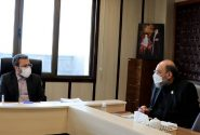 دیدار رئیس اتحادیه سراسری کانونهای وکلای دادگستری ایران با رئیس کل دادگستری استان همدان مورخ ۹۹/۱۱/۱۶