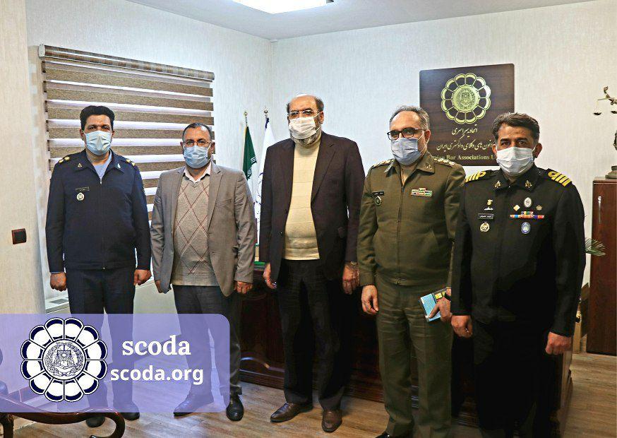 دیدار دکتر کوشا ریاست اسکودا با معاونت حقوقی و امور پارلمانی ارتش جمهوری اسلامی
